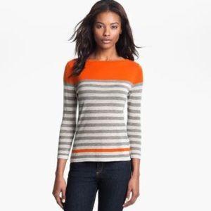 Autumn Cashmere engineered stripe sweater